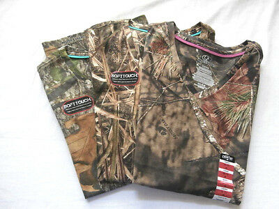 Mossy Oak Ladies Fitted T Shirts - You Choose - Obsession Shadow Grass - Hunting