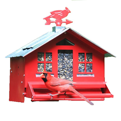 Perky Pet Squirrel Be Gone II bird feeder Country Style Weathervane 338 Red
