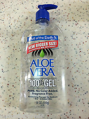 2 X Fruit of the Earth Aloe Vera Gel 510g (Pure Gel. No Color Added)