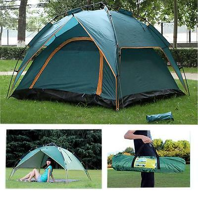 3~4 Man Family Camping Tent Canopy Double Layer Automatic Waterproof Backpacking