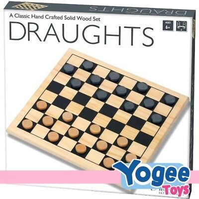 New Entertainment Solid Wood Draughts Set