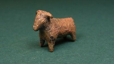 ANCIENT BRONZE BULL SHAPED AMULET 1st MILLENNIUM BC