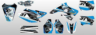 Kit Adesivi Grafiche Skullz Black Tm Mx 125 144 250 2004 2005 2006 2007 Decals