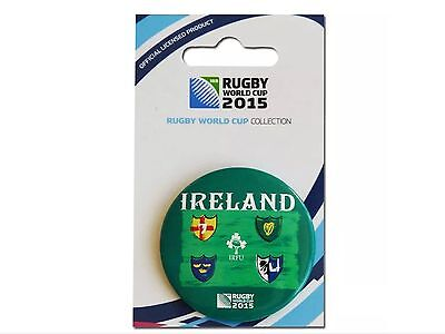 Rugby World Cup 2015 Ireland Button Badge - Official Licensed Product