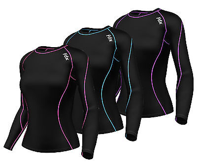 FDX Women's Compression Top Long Sleeve Base Layer Running Gym Training Shirt
