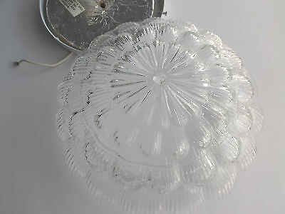 Flush Mount Round Clear Glass Globe Flower Dome Ceiling Light