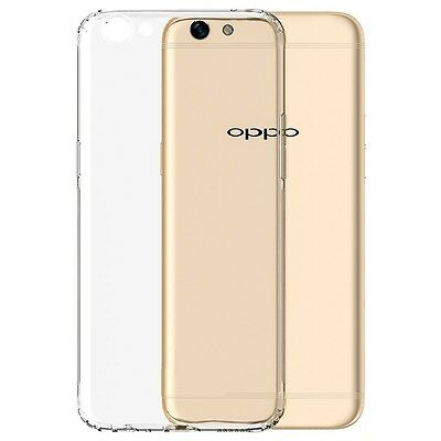 Soft Gel Clear Transparent Case Cover For Oppo F3 | F3 Plus + Screen Protector