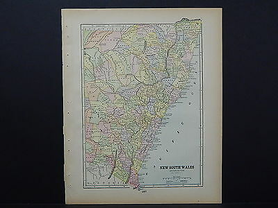 Antique Map 1897, M5#3 New South Wales