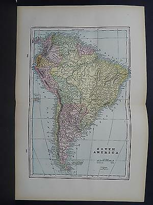 Antique Map 1897, M5#13 South America