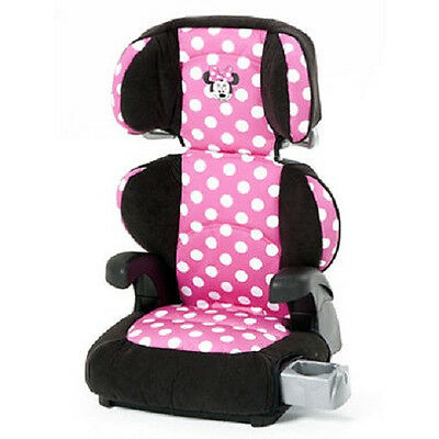Disney Pronto Minnie Mouse Belt Positioning Booster Seat With Removable Back!!
