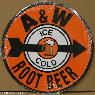 """A & W ROOT BEER 12"""" metal sign ice cold root beer soda pop coke USA made AR-01"""