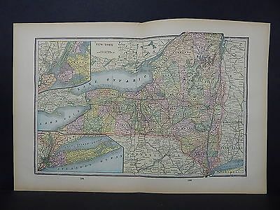 Antique Map 1897, M5#21 State of New York