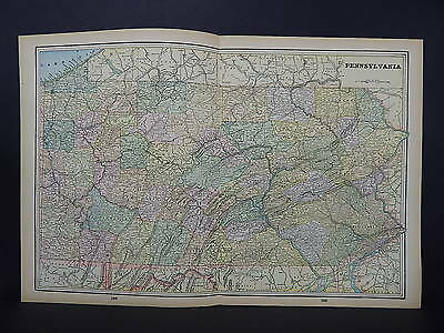 Antique Map 1897, M5#22 State of Pennsylvania