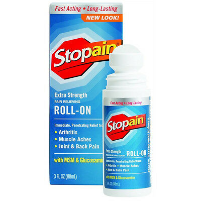 Stopain Extra Strength Pain Relieving Roll-on 3oz Each