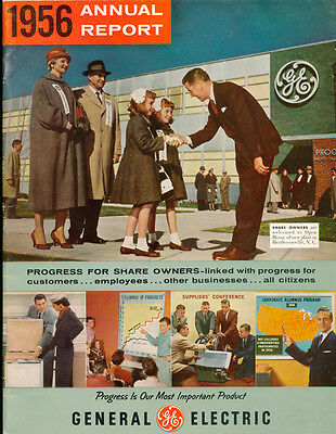 Rare Vintage General Electric 1956 Annual Report Vintage Ads Products Fashion