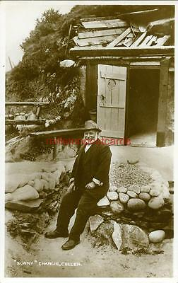 """Real Photographic Postcard Of """"sunny"""" Charlie Cullen, Banffshire, Scotland"""