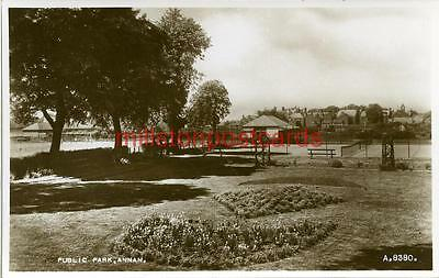 Real Photographic Postcard Of The Public Park, Annan, Dumfriesshire, Scotland