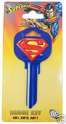 Superman Collectable Uncut House Key Blank