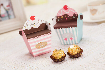 25 Cupcake Sweet Favor Box Wedding / Cute Baby Shower / Party / Christening