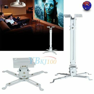 Universal  DLP/LCD Projector Bracket Ceiling Mount Extendable Adjustable White