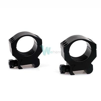 2pcs Tactical 30mm Low Profile Scope Mount Ring fit 20mm Weaver Picatinny Rail