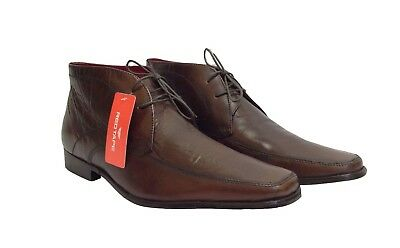 Mens Gents Real Leather Red Tape Chelsea Ankle Boots Smart Formal Shoes Size