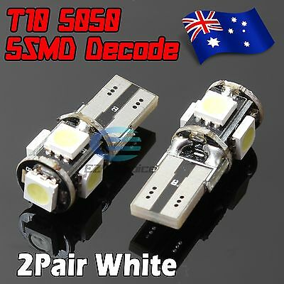 4x T10 5 SMD Canbus LED Light Error Free Parking Number Plate Reverse Lamp Bulb