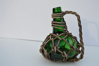 Antique/primitive Green Thick Glass Bottle Glass Seal On The Bottom