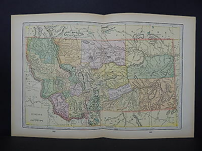 Antique Map, 1897, USA, M5#28 State of Montana