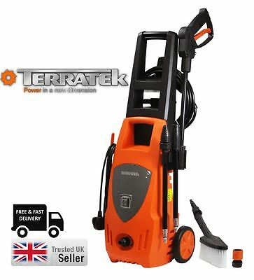 Terratek 1850W Portable Compact High Pressure Power Jet Cleaner Washer