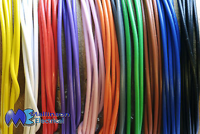 Solid Core Wire 1/0.6 mm single strand Copper, PVC Outer in 11 bright colours