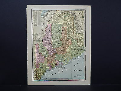 Antique Map, 1906, United States, State of Maine M6#04