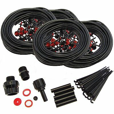 New 92m Micro Watering System Kit Garden Greenhouse Water Automatic Irrigation