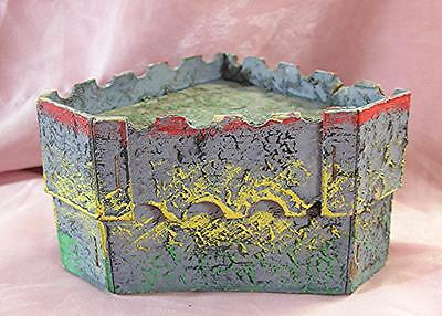 Vtg 1930 Cardboard, Mache Folk Art Erzgebirge Germany Xmas Putz Miniature Castle