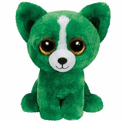 "Ty Beanie Boos 6"" Dill the Green Dog"