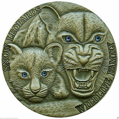 Niue 2015, $1 Wildlife, Snow Leopards Family, 1oz Silver Coin, only 500!