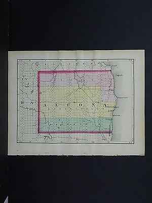 Michigan Map 1873, Double Side Counties of Alcona or Oscoda J19#84