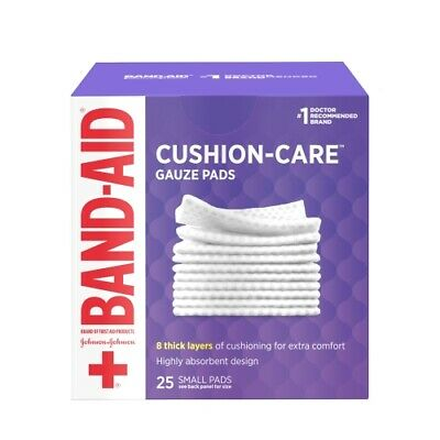 BAND-AID First Aid Small Gauze Pads, 2 in x 2 in, 25 Each