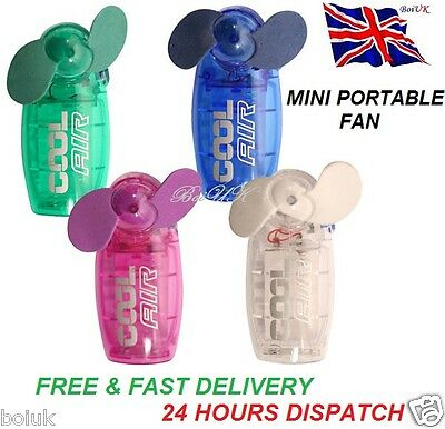 Mini Portable Pocket Fan Cool Air Hand Held Battery Travel Blower Cooler New