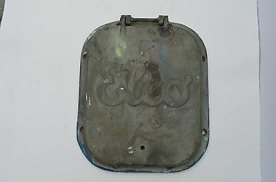 Antique Vintage Rare Elco Solid Brass Nautical Boat Square Porthole As Found