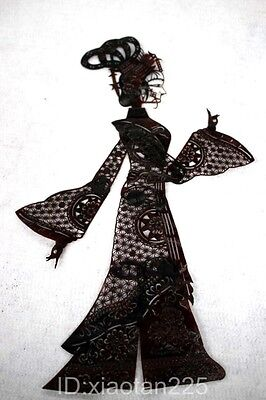 Handmade Cowhide Shadow Play Puppet--Lady (Arms legs Can move)W1275