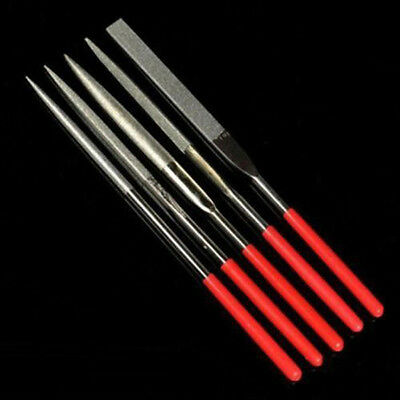 5pcs Metal Needle Files Set Jewelry Wood Diamond Glass Stone Carving Craft Tool