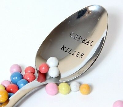Cereal Killer Spoon, Personalized Spoon, Cereal Lover Spoon