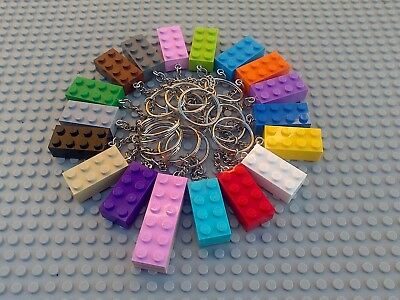 Brick Key Ring Lego - Party Bag Wedding Favour Stocking Fillers - 20 Colours