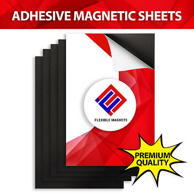 10 Self Adhesive Flexible Magnetic Sheets 4x6 inches - FREE SHIPPING