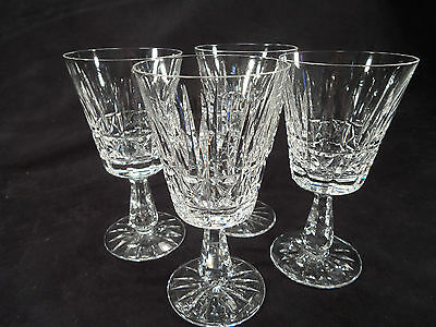 """Lot of Four (4) Waterford Kylemore Wine Water Goblets -- 6 7/8"""" -- Mint Cond!"""