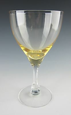 Fostoria Glass VOGUE-GOLD TINT Water Goblet(s) EXCELLENT