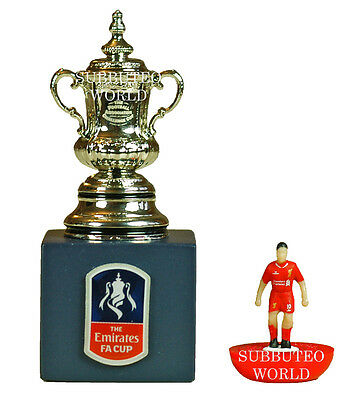 THE FA CUP & DISPLAY BOX. OFFICIAL LICENSED PRODUCT. SUBBUTEO SOCCER. 45mm