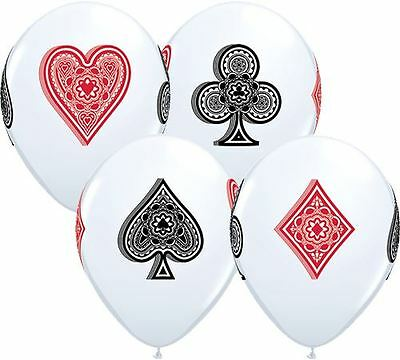 "Latex Balloons Card Suits Poker Casino Theme 11"" PK5 - Party Decorations"