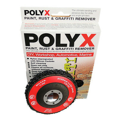 Poly-X Paint, Rust & Graffiti Remover - Abrasive Disc For Use With Angle Grinder